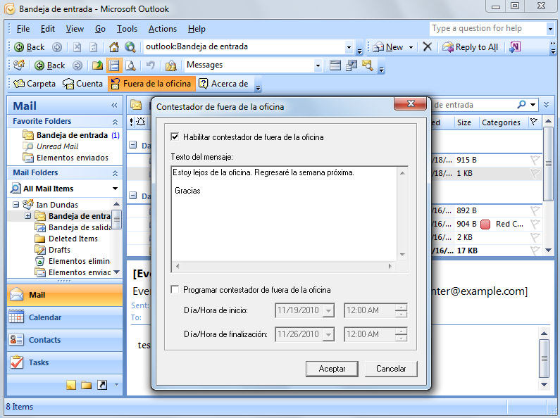 Configurar Outlook con MDaemon Connector